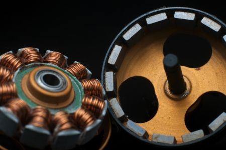 ball bearing: Electrical motor from inside