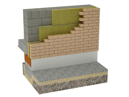 material: The layered masonry heat insulation system