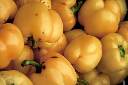 Yellow Peppers at Local Farmers Market photo
