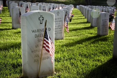 fort logan national cemetery: Graves on Memorial Day at National Cemetery