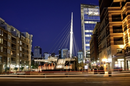 Denver Riverfront Park at the Millennium Bridge photo