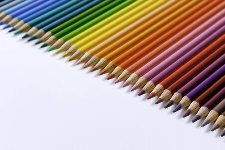 Colored Pencil Rainbow on angle to the left photo