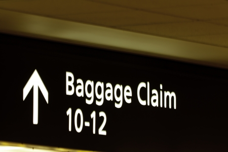 Baggage claim sign at Denver International Airport Stock Photo - 15348046