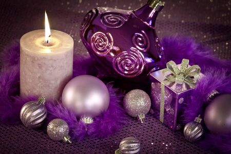 candes: Festive purple holiday decorations