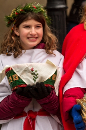 2012 Georgetown Christmas Market and Santa Lucia Childrens Procession Stock Photo - 16961704