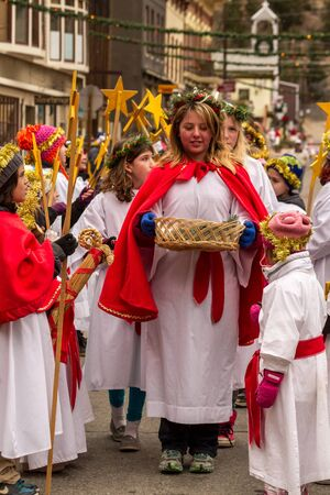 2012 Georgetown Christmas Market and Santa Lucia Childrens Procession Stock Photo - 16745826