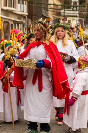 2012 Georgetown Christmas Market and Santa Lucia Childrens Procession Stock Photo - 16944011