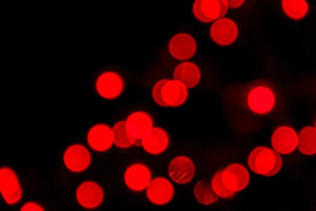 Red lights bokeh