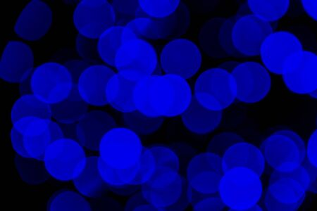 Blue Christmas lights bokeh