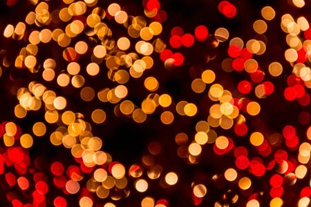 Sparkling red and white lights bokeh