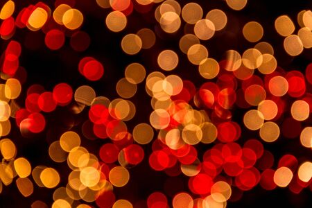 Red and white lights bokeh