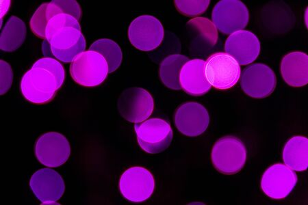 Pink and purple Christmas lights bokeh Stock Photo