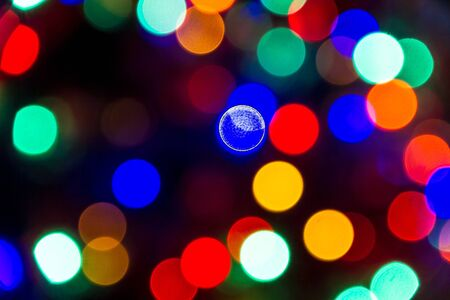 Multi-colored lights bokeh