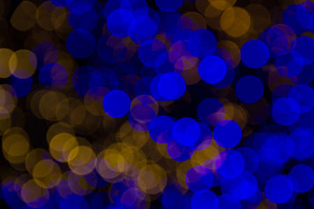 Blue and white lights bokeh