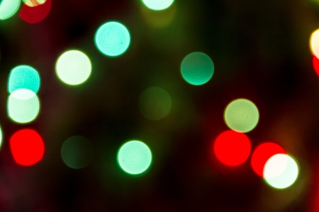 green and red christmas light bokeh photo - Green And Red Christmas Lights