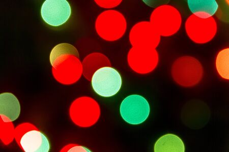 Light bokeh in green and red