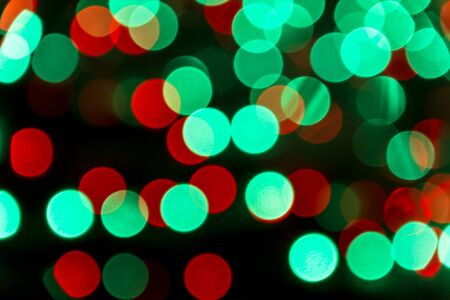 Green and red light bokeh