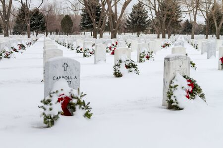 wreaths across america: 2012 Wreaths Across America at Fort Logan National Cemetery Colorado