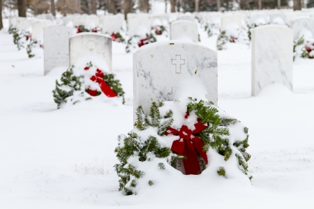 2012 Wreaths Across America at Fort Logan National Cemetery Colorado Stock Photo - 17069205