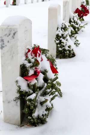 2012 Wreaths Across America at Fort Logan National Cemetery Colorado Stock Photo - 17044828
