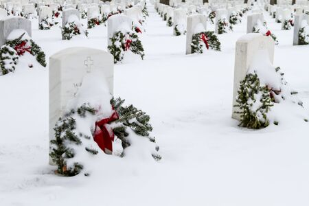 2012 Wreaths Across America at Fort Logan National Cemetery Colorado Stock Photo - 17044822