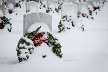 2012 Wreaths Across America at Fort Logan National Cemetery Colorado Stock Photo - 17044838