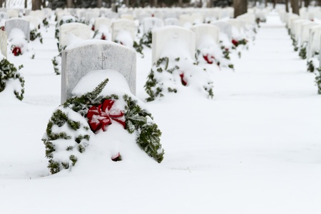 2012 Wreaths Across America at Fort Logan National Cemetery Colorado Stock Photo - 17091595