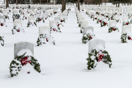 2012 Wreaths Across America at Fort Logan National Cemetery Colorado Stock Photo - 17044829