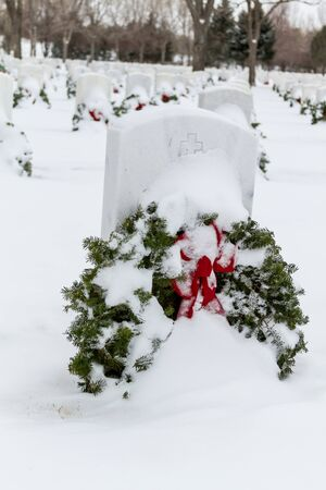 2012 Wreaths Across America at Fort Logan National Cemetery Colorado Stock Photo - 17044839