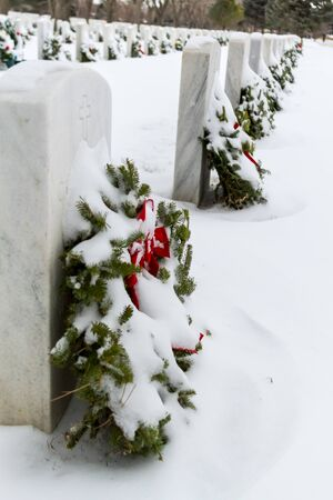 2012 Wreaths Across America at Fort Logan National Cemetery Colorado Stock Photo - 17044835