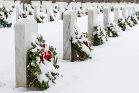 2012 Wreaths Across America at Fort Logan National Cemetery Colorado Stock Photo - 17044825