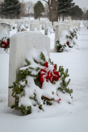 2012 Wreaths Across America at Fort Logan National Cemetery Colorado Stock Photo - 17044836