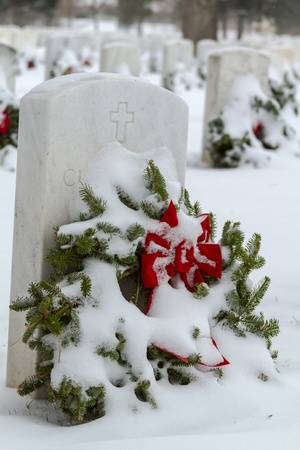 2012 Wreaths Across America at Fort Logan National Cemetery Colorado Stock Photo - 17044841