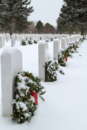 2012 Wreaths Across America at Fort Logan National Cemetery Colorado Stock Photo - 17044843