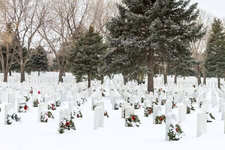 2012 Wreaths Across America at Fort Logan National Cemetery Colorado Stock Photo - 16944721