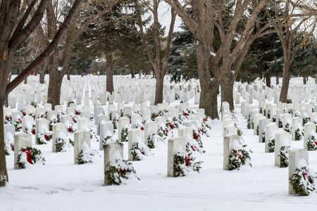 2012 Wreaths Across America at Fort Logan National Cemetery Colorado Stock Photo - 17044842