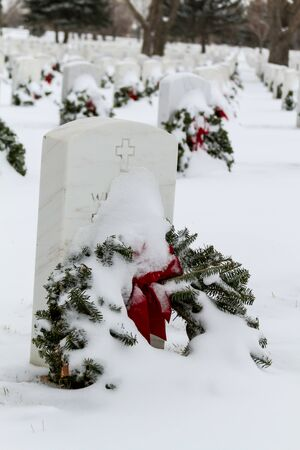 2012 Wreaths Across America at Fort Logan National Cemetery Colorado Stock Photo - 17044831