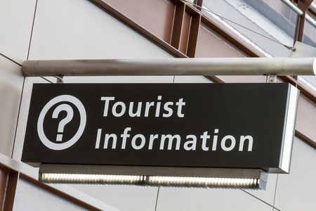 Tourist information directional sign at airport Stock Photo - 17403479