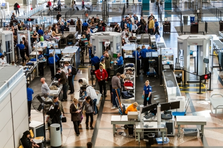 airport security: TSA airport security check point Editorial