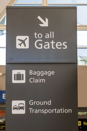 denver co: Airport directional signage Editorial