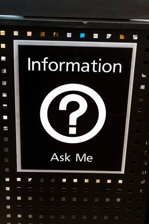 Ask me for information sign in airport Stock Photo - 17403477