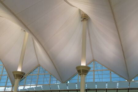 Architecture of the tents of the Denver International airport Stock Photo - 17403467