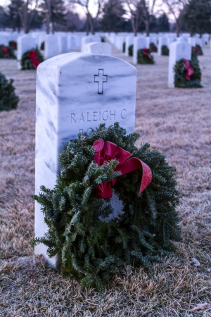 evergreen wreaths: 2012 Wreaths Across America at Fort Logan National Cemetery Colorado