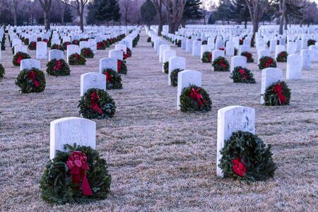 2012 Wreaths Across America at Fort Logan National Cemetery Colorado Stock Photo - 17523560