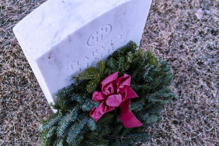 2012 Wreaths Across America at Fort Logan National Cemetery Colorado Stock Photo - 17523532