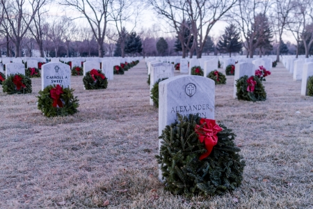 2012 Wreaths Across America at Fort Logan National Cemetery Colorado Stock Photo - 17523546