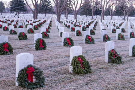 2012 Wreaths Across America at Fort Logan National Cemetery Colorado Stock Photo - 17523559