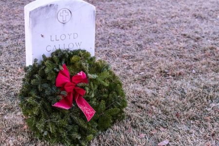 2012 Wreaths Across America at Fort Logan National Cemetery Colorado Stock Photo - 17523573