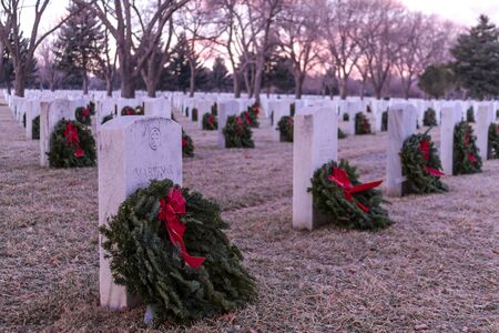 2012 Wreaths Across America at Fort Logan National Cemetery Colorado Stock Photo - 17523555