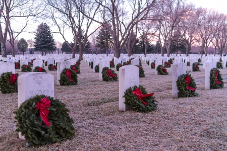 2012 Wreaths Across America at Fort Logan National Cemetery Colorado Stock Photo - 17523571